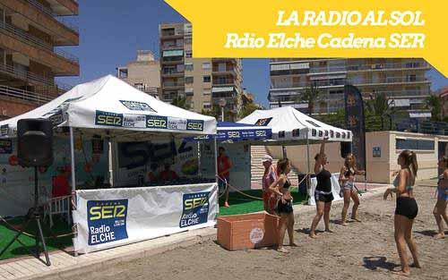 Llega «La radio al sol» de Radio Elche Cadena Ser a Santa Pola