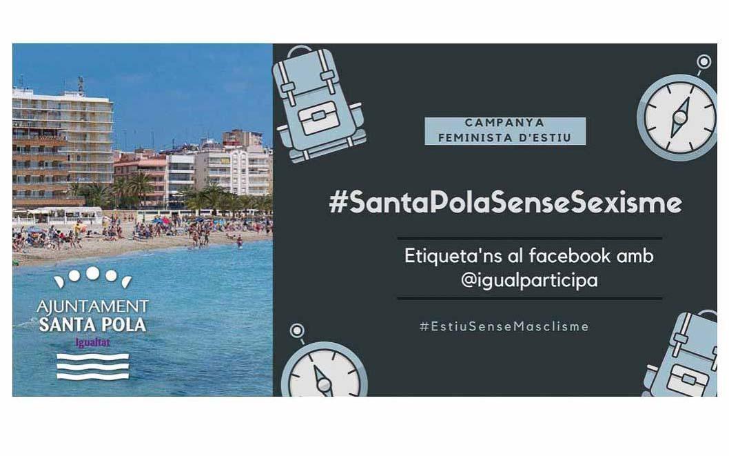 La campaña feminista de verano #SantaPolaSenseSexisme busca visibilizar las buenas prácticas