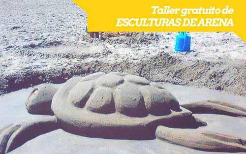 Talleres gratuitos de esculturas de arena para niñas y niños de 6 a 12 años