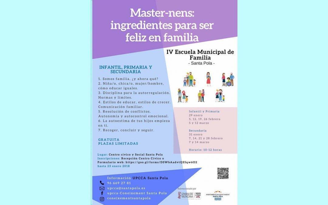 Escuela Municipal de Familia ofrece a madres y padres herramientas para abordar la educación