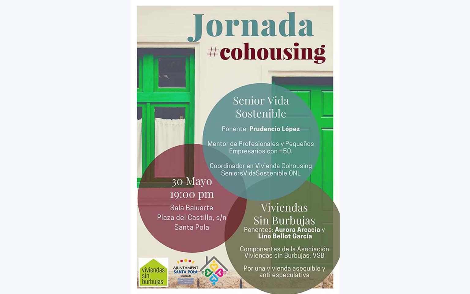 """El ayuntamiento de Santa Pola, a través del Servicio Emprende Santa Pola, organiza  """"Jornada Cohousing"""" en Santa Pola."""