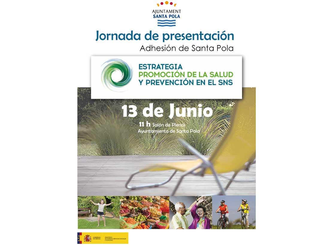 Mañana tendrá lugar la presentación de los procesos de  Adhesión del Ayuntamiento a la Estrategia de Promoción de la Salud y Prevención del MSSS
