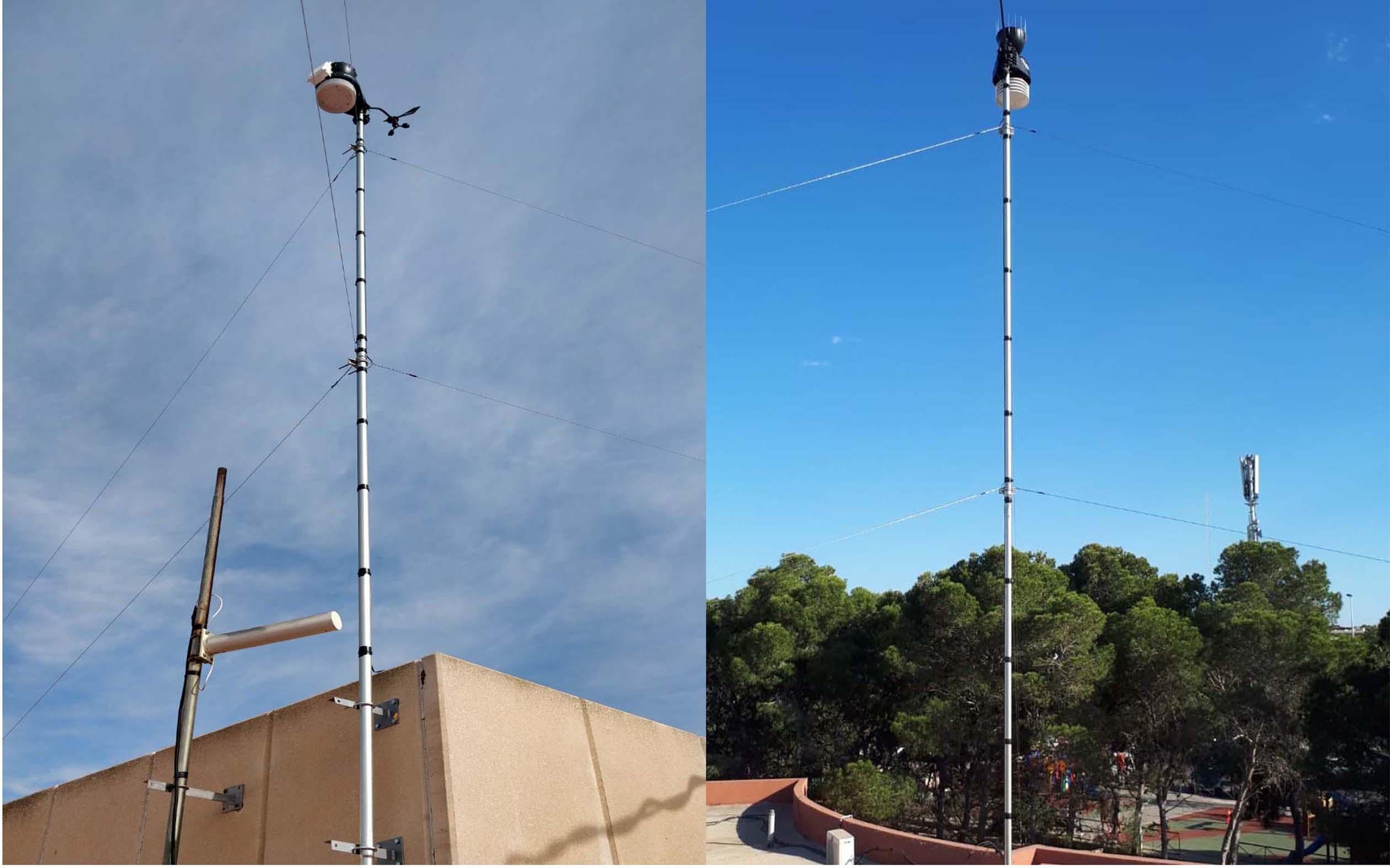 Instaladas dos estaciones meteorológicas en Santa Pola para ofrecer el tiempo en directo