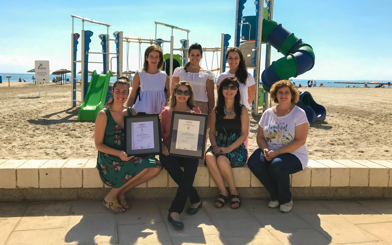 La Concejalía de Playas, a cargo de Mercedes Landa, renueva el Certificado ISO 9.001 y 14.001 en base a la normativa UNE-EN