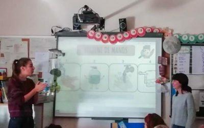 (Castellano) El alumnado de los colegios de Santa Pola ha recibido talleres de hábitos saludables y prevención de lesiones