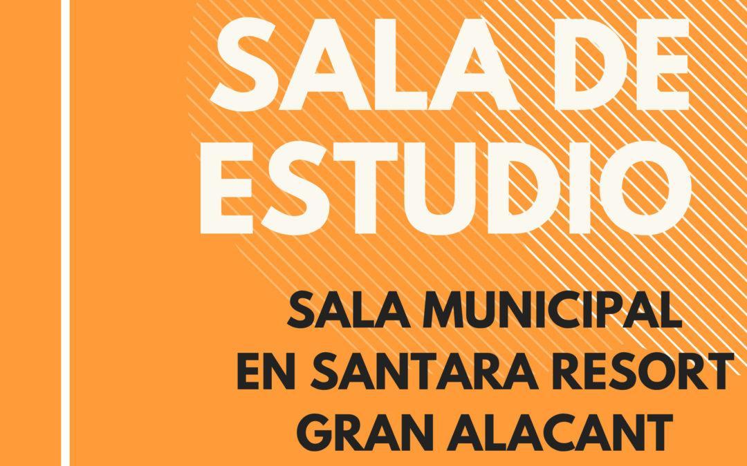 El próximo 2 de enero se abrirá una sala de estudio en Gran Alacant, destinada a estudiantes universitarios y de oposiciones