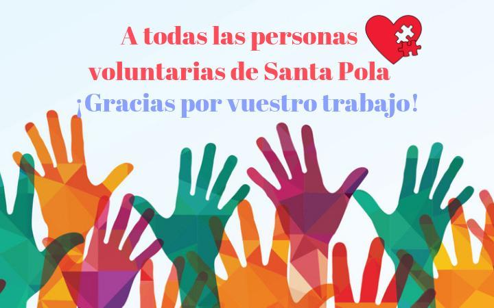 (Castellano) Santa Pola reconocerá la labor de los voluntarios el 10 de diciembre en el Salón de Plenos del Ayuntamiento