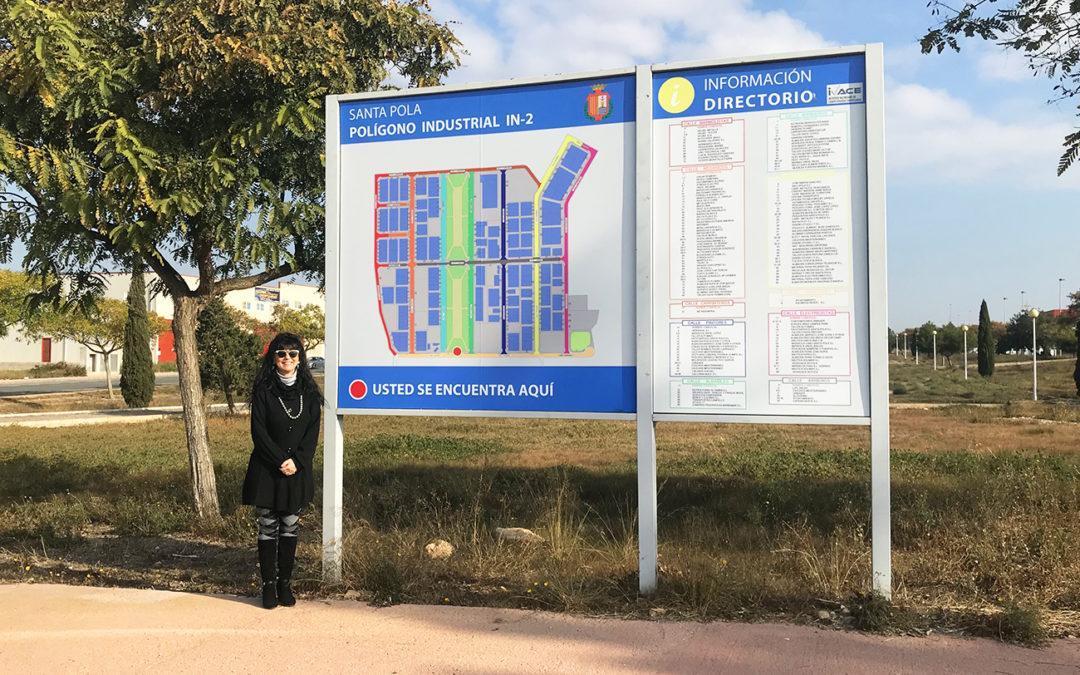 La regidoria d'Indústria instal·la una nova senyalística en el Polígono IN-2