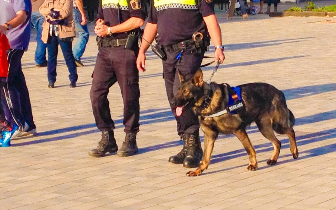 La Policia Local de Santa Pola organitza una jornada d'Avaluació de riscos i actuació policial davant gossos