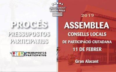 (Castellano) La primera Asamblea de Consejos Locales de Santa Pola llega al pabellón de Gran Alacant el 11 de febrero