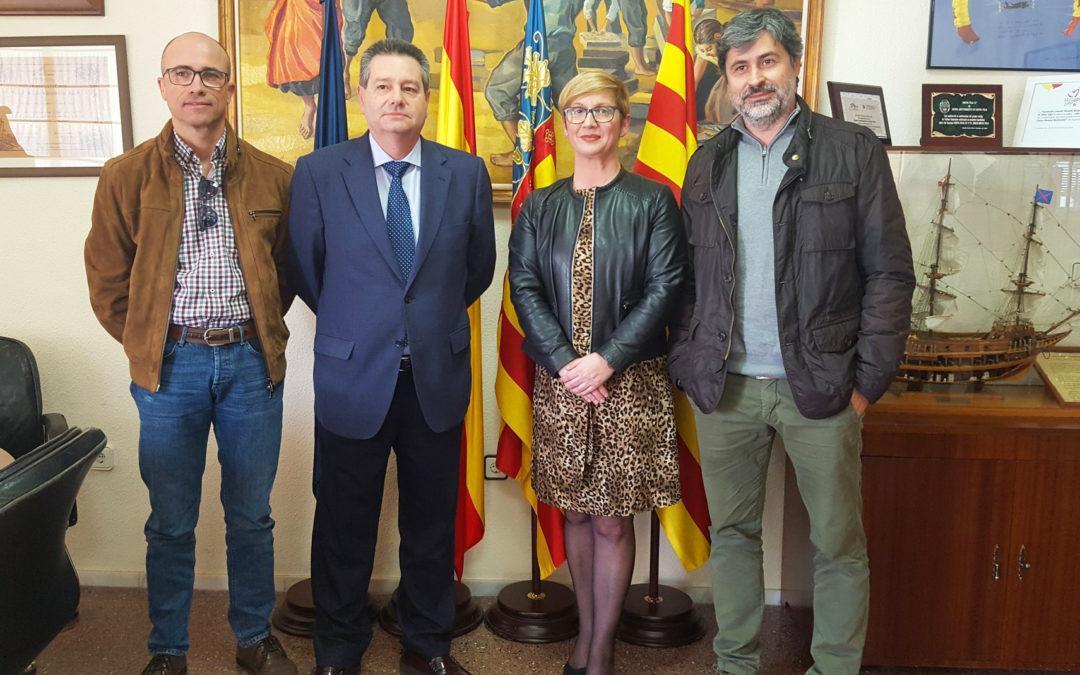 L'Ajuntament de Santa Pola signa el replanteig de les obres de renovació del col·lector de clavegueram de la ctra. Elx