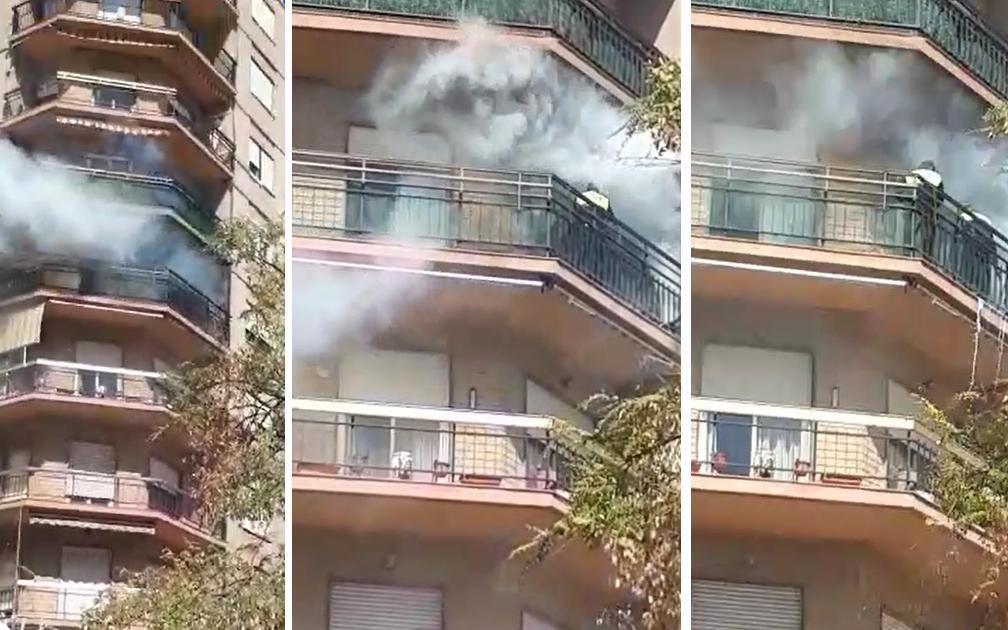 La Policia Local intervé en l'incendi d'un habitatge en el centre de la vila marinera