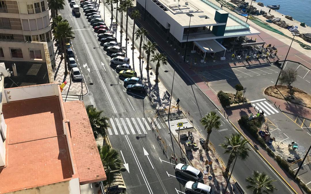 La Unidad de Seguridad Vial de la Policía Local de Santa Pola finaliza los trabajos de la Avenida Fernando Pérez Ojeda