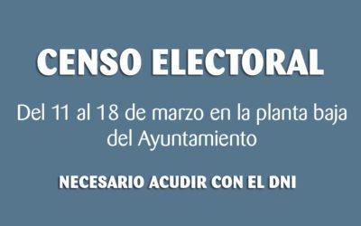 (Castellano) El Ayuntamiento de Santa Pola comprobará del 11 al 18 de marzo el censo electoral de la localidad