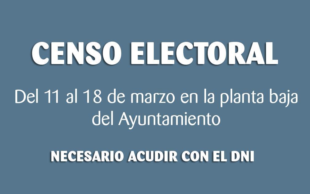 El Ayuntamiento de Santa Pola comprobará del 11 al 18 de marzo el censo electoral de la localidad