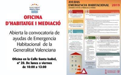 L'Oficina d'Habitatge i Mediació de l'Ajuntament de Santa Pola tramitarà íntegrament les noves ajudes d'emergència habitacional