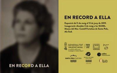 (Castellano) 'En record a ella', la obra de María Amparo Gomar llega al Museo del Mar de Santa Pola el 4 de mayo