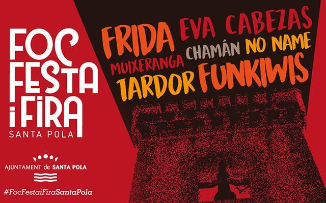 (Castellano) El 'Foc, Festa i Fira' vuelve a Santa Pola para llenar la Glorieta de música, espectáculos y actividades