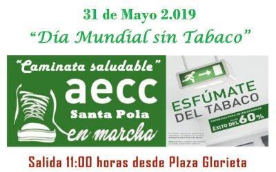 (Castellano) Santa Pola se suma al Día Mundial Sin Tabaco con una caminata saludable el 31 de mayo