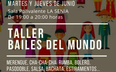 (Castellano) El Taller de bailes del mundo llegará a la Senia en junio, gracias a la Agencia de Desarrollo Local y a la colaboración de Participación Ciudadana
