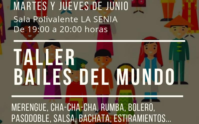 El Taller de bailes del mundo llegará a la Senia en junio, gracias a la Agencia de Desarrollo Local y a la colaboración de Participación Ciudadana