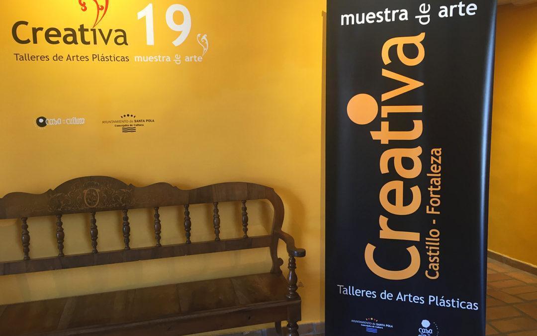 (Castellano) 'Creativa 19' llega al Museo del Mar con una exposición de más de 100 obras y 116 participantes