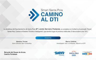 SANTA POLA realitza el 23 d'octubre la jornada SMART SANTA POLA, CAMÍ Al DTI.
