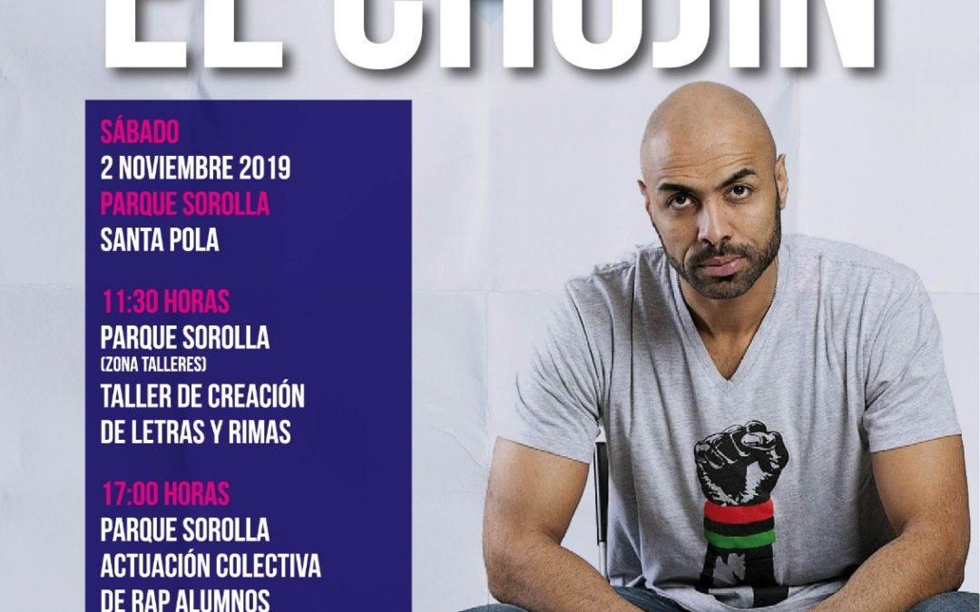 """(Castellano) El rapero """"El Chojin"""" en Santa Pola"""