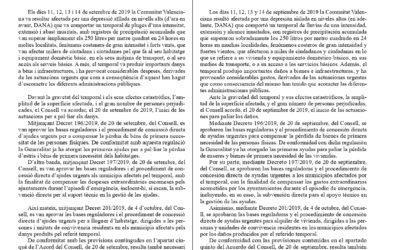 (Castellano) Información Decreto 237/2019 de 18 de octubre de 2019 para ayudas a vehículos siniestrados por efecto de la DANA