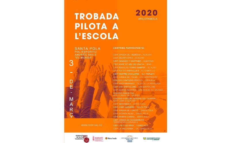 """Santa Pola acoge el quinto encuentro de """"Pilota a L'Escola"""""""