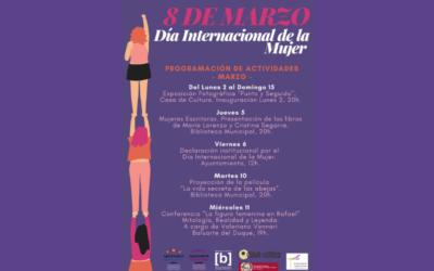 Actividades día Internacional de la Mujer, 8 de marzo